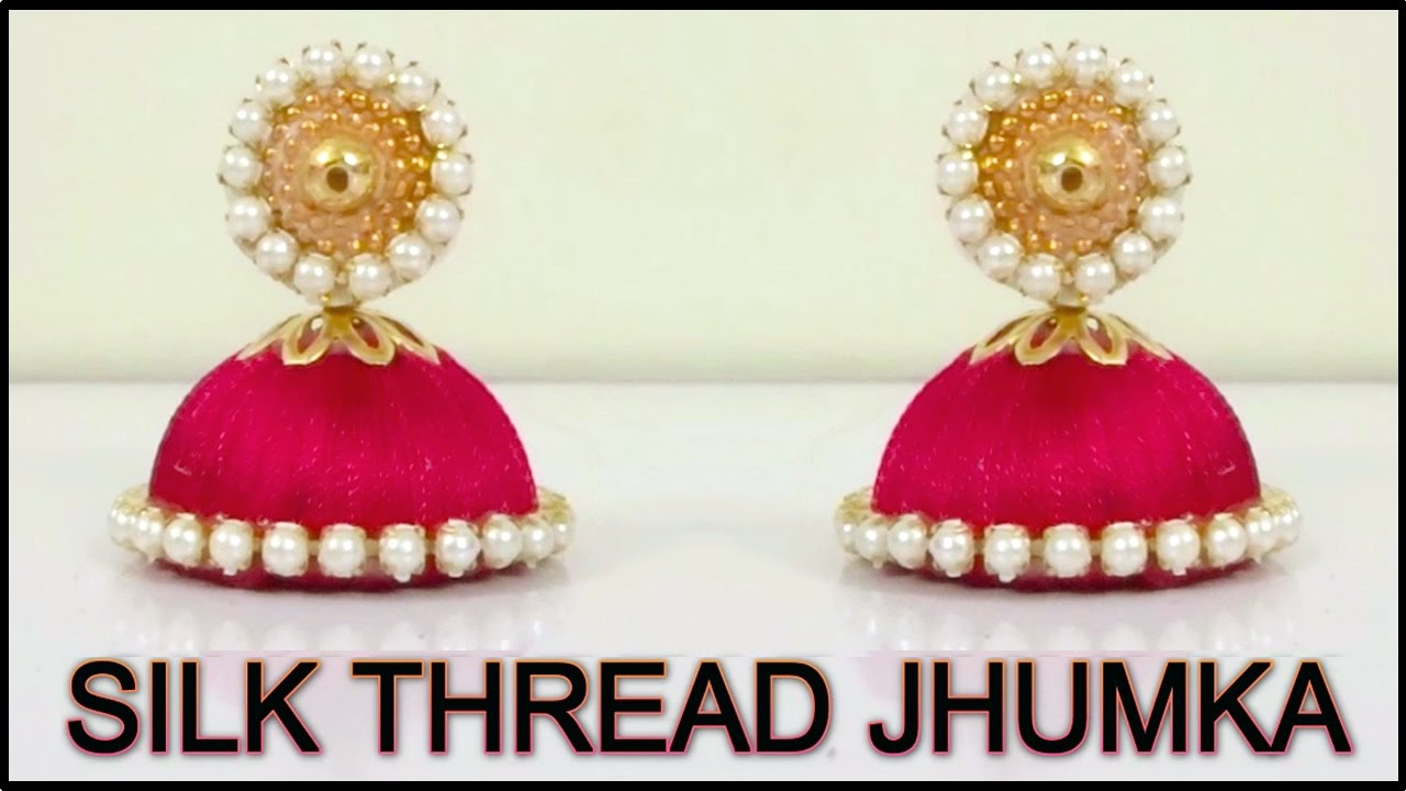 Silk Thread Earring Making Jewelry Tutorial