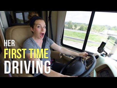 Marissa's First Time Driving a Motorhome!  - Our RV Life