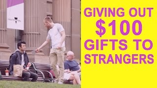 HOW DO PEOPLE REACT WHEN A STRANGER HANDS THEM $100?