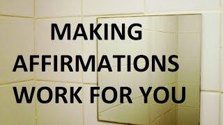 كيفية جعل التأكيدات الإيجابية في العمل بالنسبة لك (لا BS!)