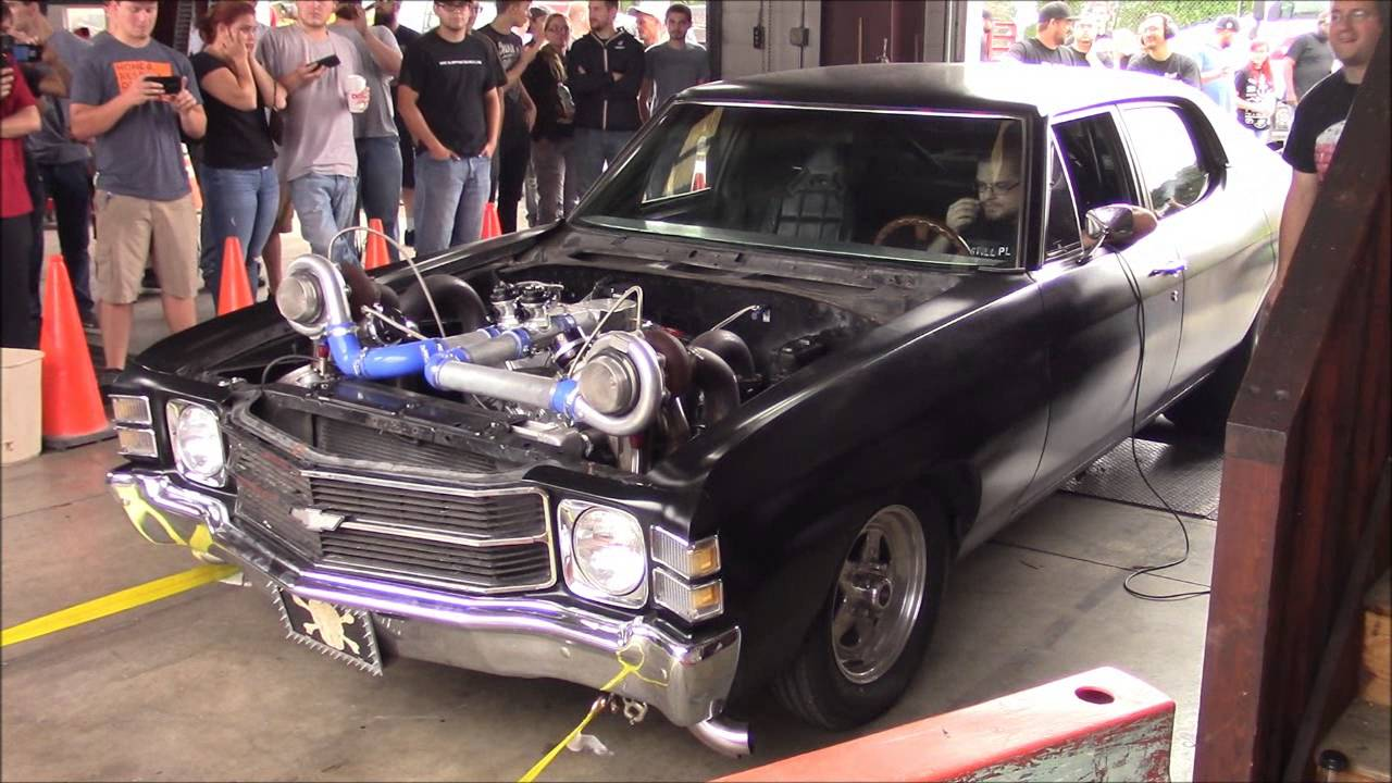Mad-max Twin-turbo Big Block Chevelle - Sloppy Mechanics Dyno Day Fall 2016