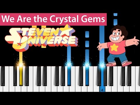 Steven Universe - We Are the Crystal Gems (Opening Theme) - Piano Tutorial - How to Play
