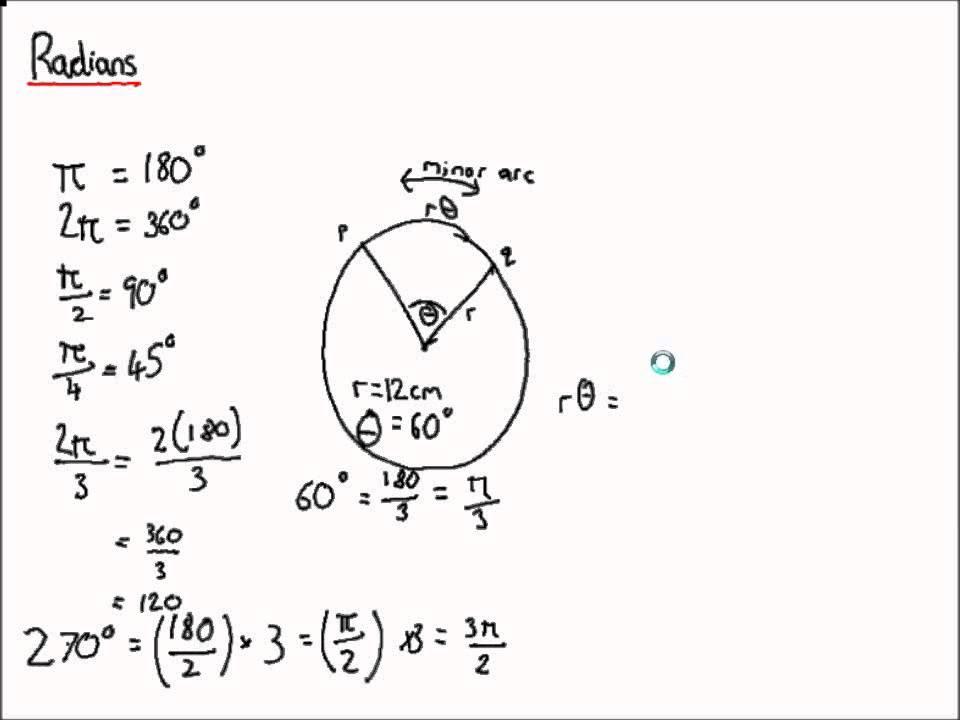 A Level Maths - C2 Radians + Arcs + Sectors
