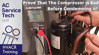 Testing if an HVACR Compressor is Shorted to Ground, Open, or Overload Tripped!