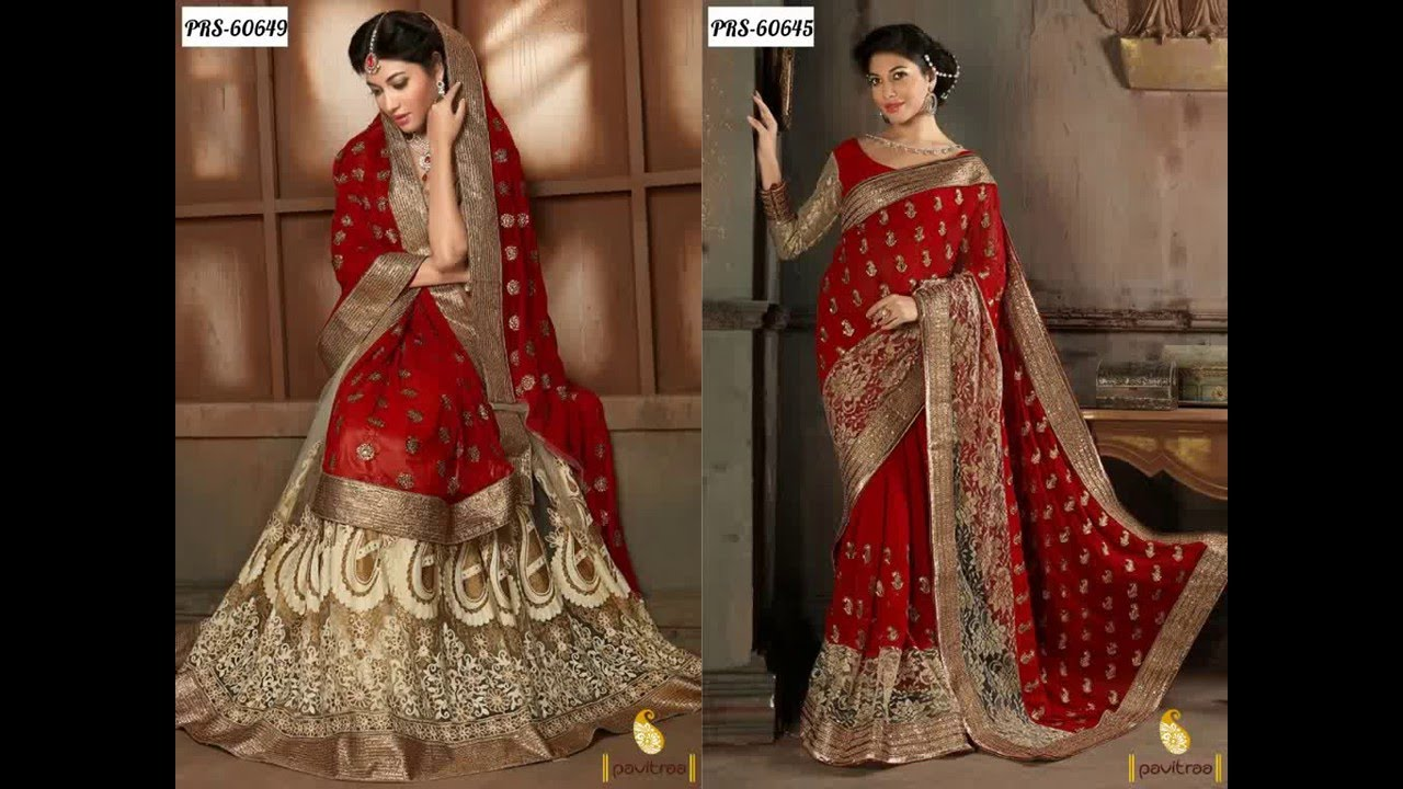 Indian Fashion Designers Wedding Reception Latest Sarees And Lehenga Style For Bride You