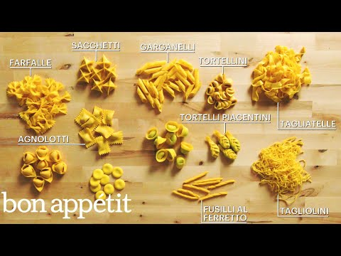 How to Make 29 Handmade Pasta Shapes With 4 Types of Dough | Handcrafted | Bon Apptit