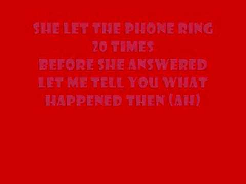 Mr.Telephone Man Lyrics on Screen