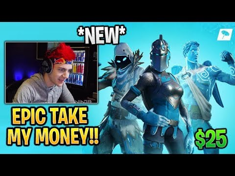 Ninja BUYS the *NEW* FROZEN LEGENDS Bundle (Red Knight, Love Ranger, Raven) Fortnite