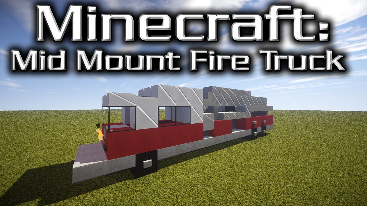 Minecraft Mid Mounted Fire Truck Tutorial (designed By Yazur - Wiring Diagram