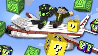 ABRIENDO luckys en un AVION!! | sTaXx VS Willyrex | Carrera LUCKY BLOCKS