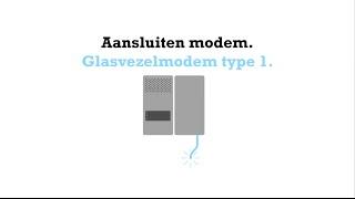 Aansluiten glasvezelmodem type 1