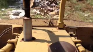 Fiat-Allis 8B Dozer pushing scrap