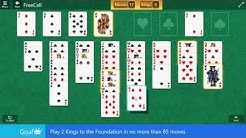 FreeCell\Hard II - Play 2 Kings to the Foundation in no more than 85 moves