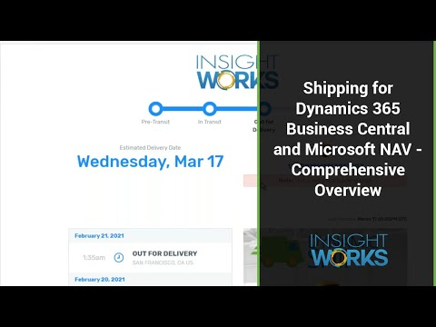 Shipping for Dynamics 365 Business Central and Microsoft NAV - Comprehensive Overview