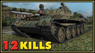 T-62A - 12 Kills - 1 VS 6 - World of Tanks Gameplay