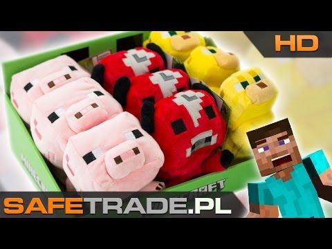 Minecraft Official Plush Animal Toys Baby Ocelot Mooshroom And Pig