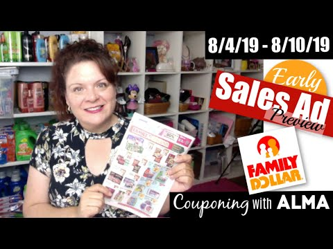 Early Preview 8/4/19 Family Dollar Sales Ad
