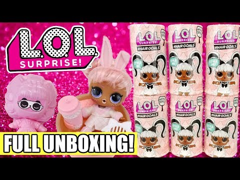 lol-surprise-#hairgoals-first-full-unboxing-|-l.o.l.-series-5-+-series-4-wave-3-opening