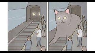 Лютые приколы. Гигантский кот - поезд