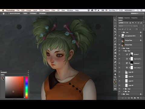 Orange Dress [Digital Painting]