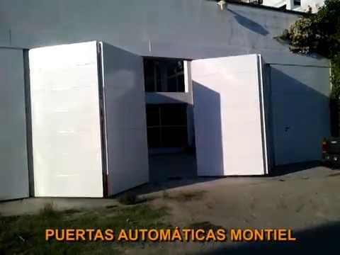 Puerta autom tica plegadiza de 4 hojas con pistones tipo for Hojas plegables