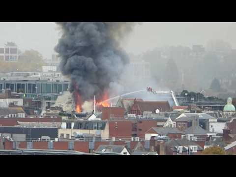 MAJOR FIRE - Fire in Exeter worsens