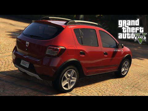 dacia sandero stepway 2014 gta 5 youtube. Black Bedroom Furniture Sets. Home Design Ideas