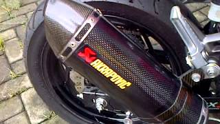 Kawasaki Ninja 250 FI Akrapovic sound(No DB Killer)