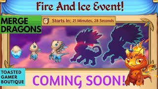 Merge Dragons Fire And Ice Event • First 30 Minutes • Tips And Tricks Guide ☆☆☆