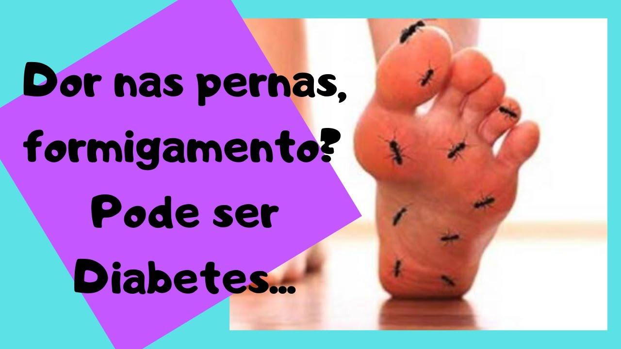 dores nas pernas diabetes tipo