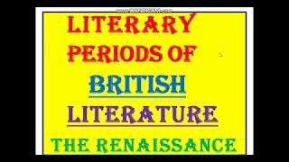 The Renaissance period in English Literature discussed in Hindi// हिंदी में साराँश