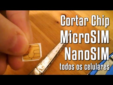 Como cortar um chip de celular MiniSIM para transformar em