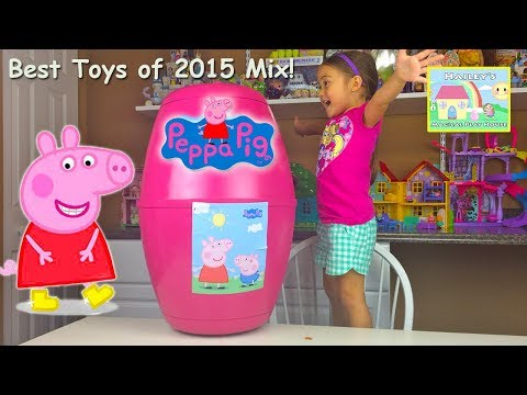 Best Peppa Pig Videos Opening Toys | Giant Peppa Pig Surprise Egg Toy Review and Kids Playing