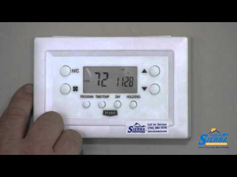 how to program your bryant thermostat youtube. Black Bedroom Furniture Sets. Home Design Ideas