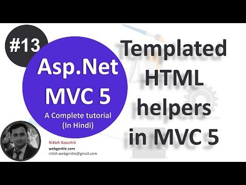 (#13) Templated HTML Helpers In MVC 5   Mvc Tutorial For Beginners In .net C#
