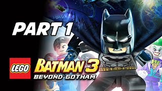 Lego Batman 3 Beyond Gotham Walkthrough Part 1 - Pursuers in the Sewers (Let's Play Commentary)