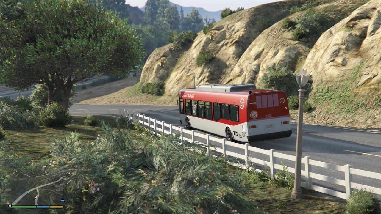 GTA 5 Phượt #8 - Trở 5 Con Ghệ Đi Tham Quan Bằng Xe Buýt