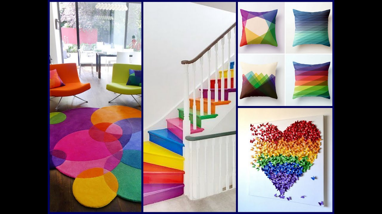 Colorful summer decor ideas rainbow home decorating Home decor ideas pictures photos
