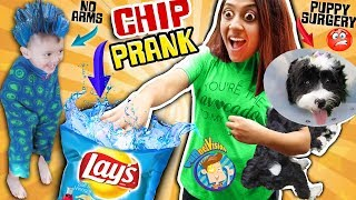 CHIP Joke & Puppy Surgery Boo Boo  + FGTEEV Gaming 1st Reaction FUNnel Vision Family Vlog