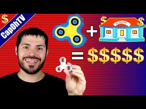 Selling Fidget Spinner Toys at School