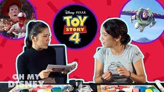 Toy Story 4 Speed Round With Pixar Artist Mara MacMahon! | Oh My Disney