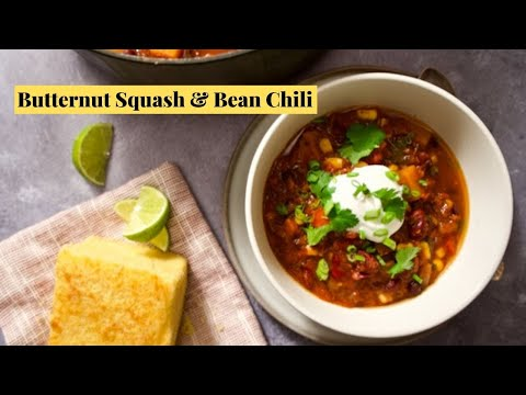 Easy Vegan Chili Recipe with Butternut Squash and Beans