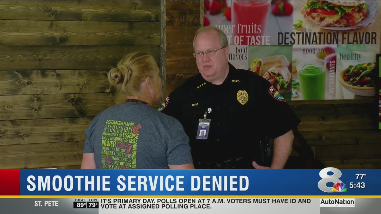 police officer denied service at tropical smoothie in winter haven