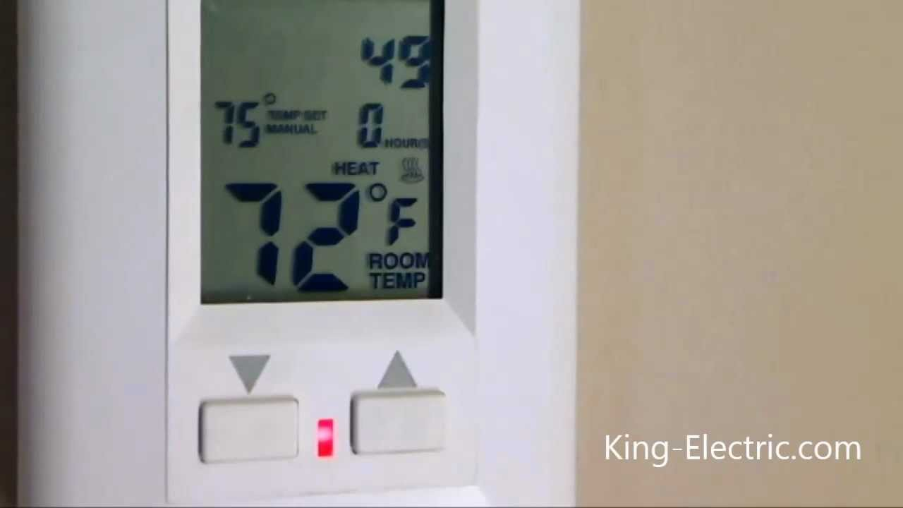 King Electric ESP120-R ESP Programmable Electronic Thermostat 120-Volt