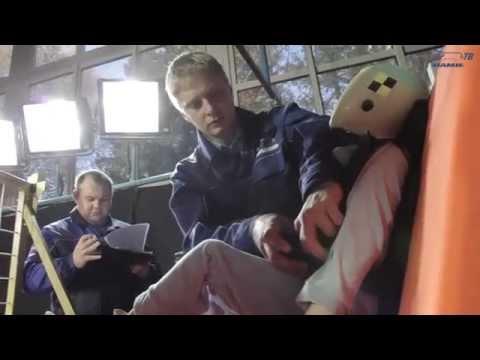 Краш-тест бескаркасных детских удерживающих устройств в Центре испытаний ФГУП «НАМИ»