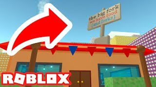 HOW TO ENTER THE BIG FORK RESTAURANT IN ROBLOX CLEANING SIMULATOR