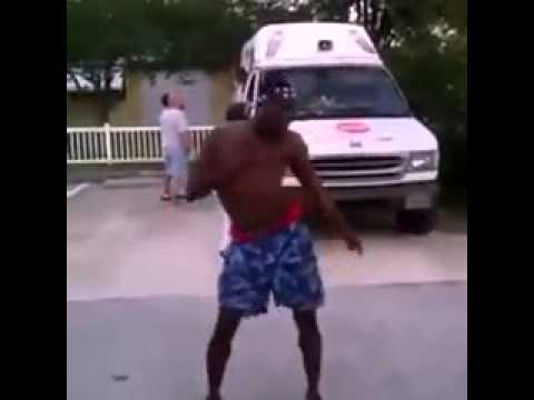 man dancing to ice-cream truck song
