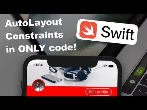 Swift AutoLayout Constraints with ONLY code - no storyboards! thumbnail