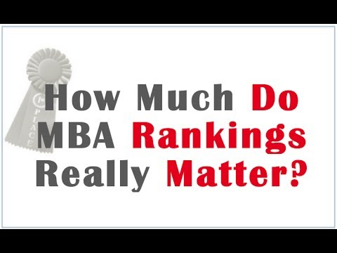 How Much do MBA Rankings Matter?