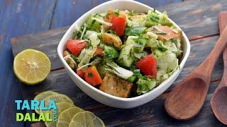 Fattoush ( Lebanese Salad ) By Tarla Dalal